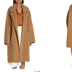 New Vince patch pocket tan car coat